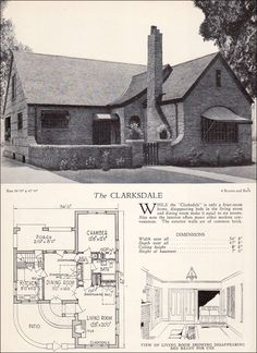 The Clarksdale  1928 Home Builders Catalog  Wall bed
