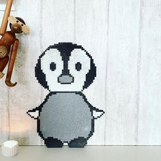Baby penguin hama beads by takacs_anja - Pattern: https://de.pinterest.com/pin/374291419013031055/