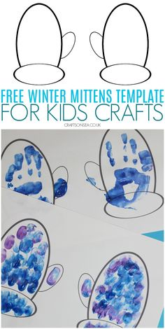 This free mittens template is perfect for winter crafts and painting with kids. Print our free PDF and check out our ideas on winter mittens crafts to do with your child. Winter Crafts For Toddlers, Winter Activities For Kids, Crafts For Kids To Make, Toddler Crafts, Fun Crafts, Snow Crafts, Snowflake Template, Leaf Template, Templates