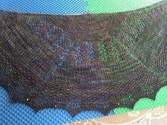 Geology shawl for my sister.  Made with Malabrigo sock