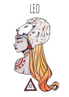 Leo goddess postcard, Astrology, Star signs (First print run) sternzeichen verseau vierge zodiaque Zodiac Signs Leo, Zodiac Art, Zodiac Quotes, Astrology Stars, Astrology Zodiac, Signe Astro Lion, Art Zodiaque, Signes Zodiac, Art Sketches