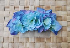 CUSTOM hydrangea comb colour on request many available vintage rockabilly style wedding 40s 50s pin up fascinator hairflower