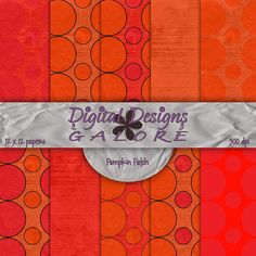 Pumpkin Patch Digital Paper Pack Set of 10 by DigitalDesignsGalore, $3.99