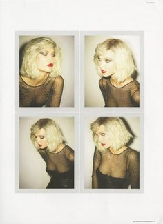choppy blonde bob hair style - karlie-kloss-gets-debbie-harry-chic-for-self-service-magazine Karlie Kloss, Short Blonde, Blonde Hair, Tilda Lindstam, Model Polaroids, Nostalgia, Blondie Debbie Harry, Self Service, Role Models