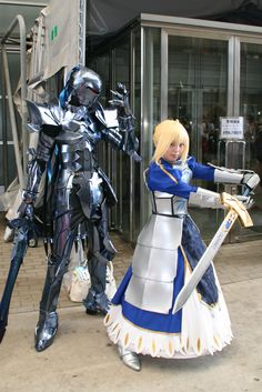 Fate/Zero cosplay. This is a real awesome cosplay (Saber and Berserker)
