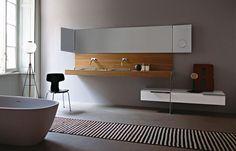 Tono Bagno - Baños de diseño cemento-Agape-bañera NORMAL-lavabo 002-griferia SQUARE- espejo NARCISO