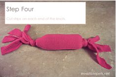 DIY Water Bottle Crinkle Dog Toy - made from old sweater