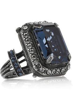 Lanvin ftw! Glass and swarovski ring