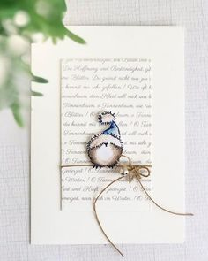 good morning with a CAS christmascard - this funny little bird from is waiting for Santa . wish you all a nice… Christmas Card Crafts, Homemade Christmas Cards, Printable Christmas Cards, Christmas Cards To Make, Xmas Cards, Homemade Cards, Handmade Christmas, Holiday Cards, Christmas Time