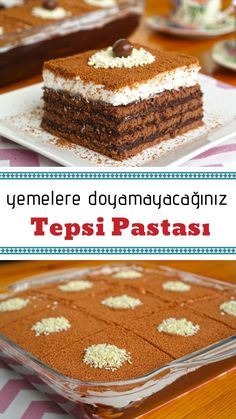 Tepsi Pastası (videolu) - Nefis Yemek Tarifleri How to Make Tray Cake (with video) Recipe? Illustrated explanation of this recipe in the book of people and photos of those who have tried here. Yummy Recipes, Cake Recipes, Yummy Food, Spring Desserts, Sweet Desserts, Subway Cookie Recipes, Desserts Printemps, Mousse Au Chocolat Torte, Puff Pastry Desserts