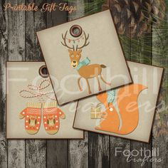 INSTANT DOWNLOAD -  9 Retro Christmas Gift Tags - 2.5 x 2.5 - Printable Digital Collage Sheet -  DIY Xmas Hang Tags - Very Merry Christmas #gift_tags #printable_gift_tags #holidaytags #diy_gift_tags #Christmasgifts #foothillcrafters #etsy