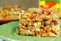 Crockpot Lentil Vegetable Lasagna   Healthy Crockpot Recipe