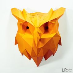 You can make your own Owl head for wall decoration! DIY paper craft projects to create a polygonal shaped sculpture. It is a paper 3D paper sculpture that can be put together by folding, gluing and assembling.  It can be placed like art or decoration. It looks really great and modern on your place.  Difficulty Level: Medium ( You need approximately 4-5 hours to build )  Paper Crafts : Owl Head Size : 50 cm Height, 47 cm wide, 25 cm deep Use paper : A4 color card paper 160 -300 gsm Template…