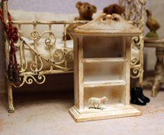 Vintage child, small cabinet, dollhouse miniature, scale 1:12. Petit Brocante, 2014