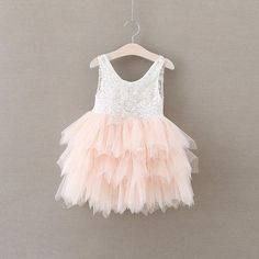 Most PinnedFlower Girl Dress:White lace top, V back,layered tulletutu. Comes in white or blush pink. Your little girl will be the most adorable, stunning, c