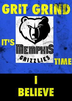 I made this one for the start of the 2013 Grizzlies' NBA playoff run.  #GrizzNation