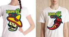 Camisetas desenvolvidas para o Restaurante  Olé Armazém Mexicano #illustration #mexico