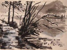 Original Landscape Painting by Ellen Fasthuber-huemer Original Paintings, Original Art, Landscape Paintings, Landscapes, Ink Painting, Is 11, Buy Art, Paper Art, Saatchi Art