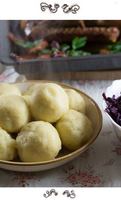 Austrian potato dumplings go well with any kind of roasted meat and duck or goose and red cabbage. Cookbook Recipes, Cooking Recipes, Granny's Recipe, Heritage Recipe, Austrian Recipes, Good Food, Yummy Food, Winter Vegetables, Going Vegetarian