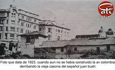 Cali antigua: FOTO APROXIMADA A 1923.  (fuente Biblioteca Departamental Valle )Hotel Alférez y casa señor Bush.