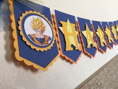 Dragon ball Z birthday banner name and age by Decorationsbybelle Goku Birthday, Dragon Birthday, Ball Birthday, Cars Birthday Parties, Birthday Party Decorations, Birthday Celebration, Dragon Z, Blue Dragon, Dbz
