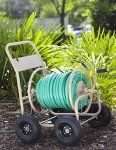 Liberty Garden Products 870-M1-2 Industrial 4-Wheel Garden Hose Reel Cart, Holds 300-Feet of 5/8-Inch Hose – Tan – BestSeller Products Reviewers