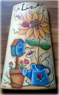 CountryLiza Tole Painting, Painting On Wood, Sunflower Wall Decor, Wood Craft Patterns, Country Paintings, Pallet Art, Country Art, Mason Jar Crafts, Picture On Wood