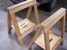 Folding Sawhorses by medsker @ Lumberjocks.com