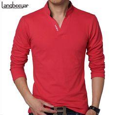 2e4eceb0b358c 2017 New Fashion Brand Men Clothes Solid Color Long Sleeve camisetas Slim  Fit T Shirt Men Cotton T-Shirt men Casual T Shirts