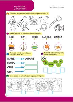 Clasa pregatitoare : Comunicare in limba romana - Clasa Pregatitoare Preschool Letters, Preschool Learning, Kids Education, It Works, Parenting, Children, Therapy, 1st Grades, Kids