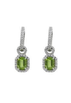 see details here: Effy Jewelry White Gold Diamond and Perdiot Earrings, 2.30 TCW