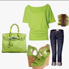 Love this lime green outfit