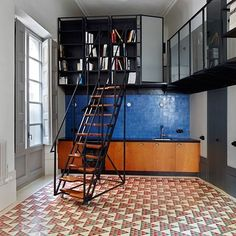 Completing our roundup of popular Barcelona apartments is this renovation by David Kohn Architects which features triangular patterned floor tiles and was named World Interior of the Year in 2013. If you enjoyed this feature visit our dedicated archive http://ift.tt/1O8jMp4 #interiors #interiordesign #Barcelona #apartments by dezeen