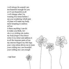 Rupi kaur poems: rupi kaur poems - quotes of the day Life Changing Quotes, Life Quotes Love, Change Quotes, Woman Quotes, Quotes To Live By, Poem Quotes, Lyric Quotes, Sad Quotes, Inspirational Quotes