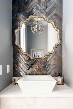 Artistic Tile I Backsplash: 'Kyoto' ceramic . Artistic Tile I Backsplash: 'Kyoto' ceramic … – # Bad Inspiration, Bathroom Inspiration, Bathroom Ideas, Modern Bathroom, Small Bathrooms, Brown Bathroom, Budget Bathroom, Dream Bathrooms, Bathroom Designs