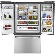 GE  Café™ Series 23.1 cu. ft. Counter-Depth French Door Refrigerator - Stainless Steel  ENERGY STAR®