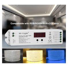 DC12V-24V Mi. Lumière LS1 4 en 1 Smart <font><b>LED</b></font> Contrôleur 15A 2.4G sans fil de contrôle pour FUT090 À Distance Unique couleur, RGBW RGB CCT Bande