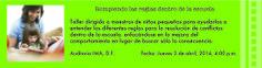 """CONFERENCIA DIRIGIDA A MAESTR@S """"ROMPIENDO LAS REGLAS DENTRO DE LA ESCUELA"""" (IMPARTIDA POR M.A. LSCW NANCY BRUSKY)  AUDITORIO, INSTITUTO MIGUEL ANGEL, LA FLORIDA, DF JUEVES 03 ABRIL 16:00 HRS  PARA MÁS INFORMACIÓN CONTÁCTANOS A guiaeducarte@gmail.com CUPO LIMITADO 10% DE DESCUENTO SI PAGAS ANTES DEL 14 DE MARZO"""