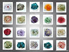 Wedding Flower Hair Clips, Brooch, Wholesale Orders, Boutique Finds, Shabby chic flowers, Women, Girls, Bridal shower favors, Fundraisers
