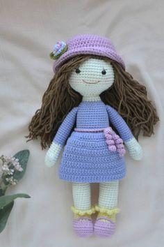 Amigurumi doll crochet pattern pdf. Amigurumi doll crochet clothes pattern. Amigurumi in clothes.