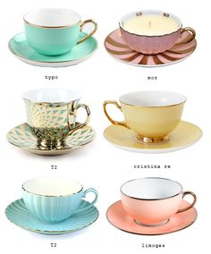 One day... I want to have pretty tea cups to sip my tea while I eat toast with jam on a saturday morning. :) #eatdrinkchic