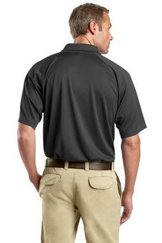 Buy the CornerStone - Select Snag-Proof Tactical Polo Style CS410 from SweatShirtStation.com, on sale now for $26.99 #polo #snagproof #cornerstone Charcoal Back