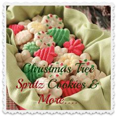 Christmas Tree Spritz Cookies & More.... When I was a little girl my Grandma Ryan was a big cookie maker. This cookie was always one she made;