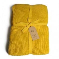 Dille & kamille, Plaid, 130 x 170 cm, katoen, geel