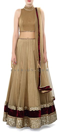 Buy Online from the link below. We ship worldwide (Free Shipping over US$100). Product SKU - 273298. Product Price - $469.00. Product Link - http://www.kalkifashion.com/olive-lehenga-adorn-in-lace-border-only-on-kalki.html