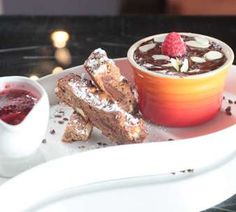 Sarel: Chocolate Mousse with Choc Chip Cookie and Berry Reduction   Recipes   Masterchef South Africa   SA Reality TV Show