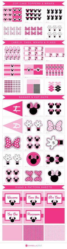 Minnie Mouse Party Package Minnie Mouse by GardellaGlobal on Etsy