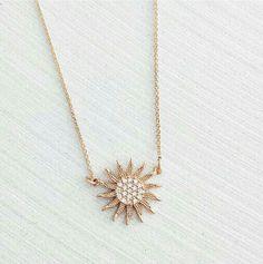 Beautiful sun necklace by stargaze jewelry