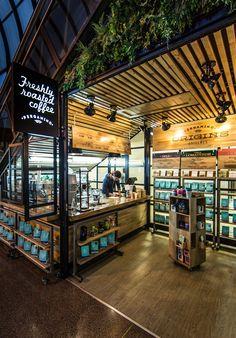 Propuestas interiores Beauty Trends 2019 new k beauty trends Kiosk Design, Cafe Design, Retail Design, Store Design, Design Design, Cafe Bar, Cafe Shop, Coffee Store, Coffee Cafe