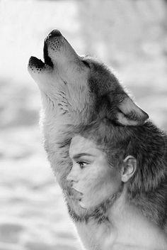 wolf&double exposure